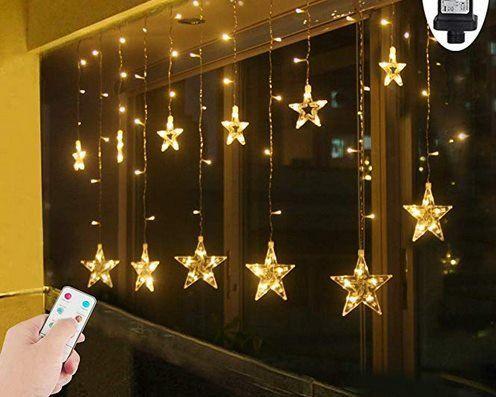 2,2x1m Lichtervorhang mit 8 Lichtmodi & 108 LEDs für 16,99€ (statt 25€)