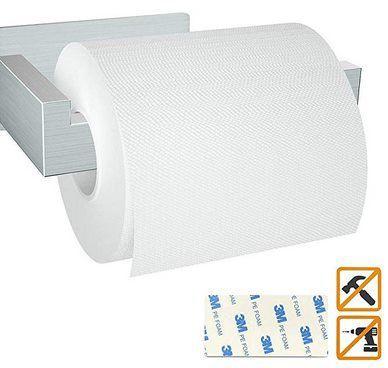 Selbstklebender Toilettenpapierhalter aus Edelstahl für 4,99€ – Prime