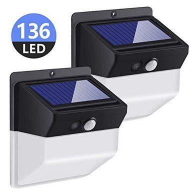 Doppelpack: LED Solarleuchten für Außen mit 136 LEDs für 17,39€   Prime