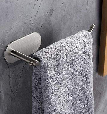 Selbstklebender Handtuchhalter aus Edelstahl für 7,69€ (statt 14€)   Prime