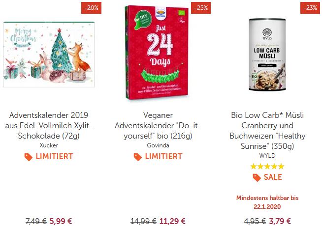 Bis zu 50% im vitafy Sale   z.B. Veganer Adventskalender Do it yourself bio (216g) ab 9,03€