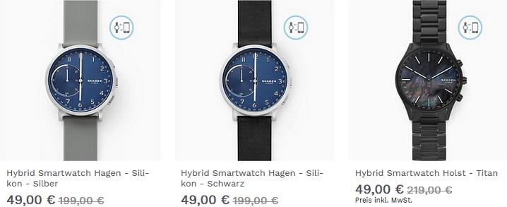 Skagen Cyber Week Sale   z.B. Uhren & Hybrids ab 49€