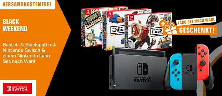 Nintendo Switch (neue Edition) + Nintendo Labo Set nach Wahl für 288€ (statt 328€)   10€ Extrarabatt mit paydirekt