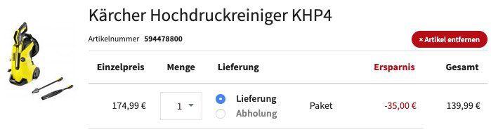 Kärcher K4 Full Control Hochdruckreiniger für 146,59€ (statt 175€)