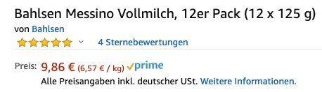 12er Pack Bahlsen Messino Vollmilch mit Orangenfüllung ab 9,37€ (statt 17€)