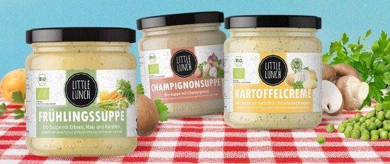 🔥50% bei Little Lunch: Kartoffelcreme, Champignon  und Frühlingssuppe je 1,49€ (statt 2,99€)