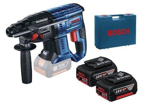 Bosch GBH 180 LI Akku Bohrhammer mit 2x 4 Ah und Koffer für 238,90€ (statt 289€)