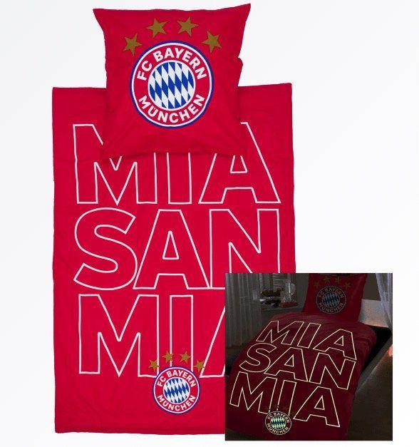FC Bayern Bettwäsche mit leuchtendem mia san mia Schriftzug für 29,95€ (statt 44€)