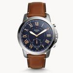 Fossil Grant Herren Hybrid Smartwatch mit Leder-Armband für 85€ (statt 153€)