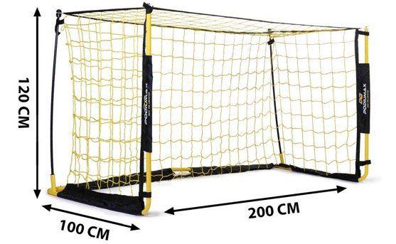 PodiuMax zusammenfaltbare Mini Fußballtor 2x1 Meter mit Tragtasche für 39,99€ (statt 80€)