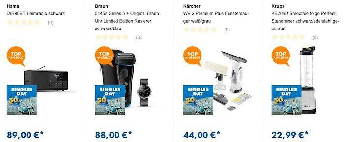 Euronics Singles Day   z.B. Braun MQ500 Stabmixer für 50€ (statt 70€)