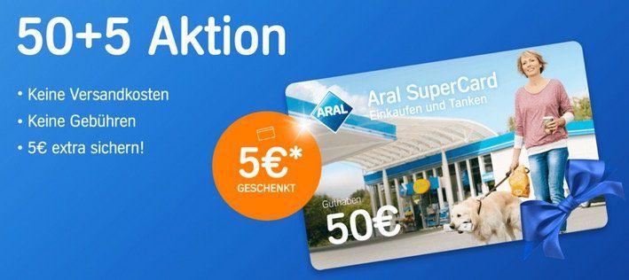 55€ Aral Supercard (Einkaufen & Tanken) für 50€ kaufen   bis 9% aufs Tanken sparen
