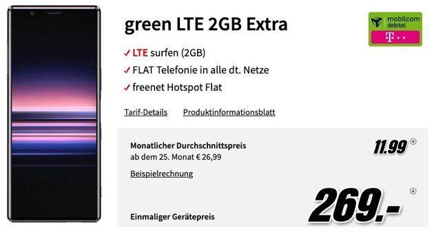 SONY Xperia 5 für 269€ mit Allnet Flat im Telekom Netz mit 2GB LTE für 11,99€ mtl.   effektiv fetter Gewinn