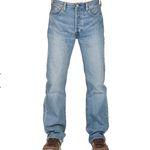 Levi's 501 Herren Jeans Original Fit in Blau/Baywater für 48,96€ (statt 67€)
