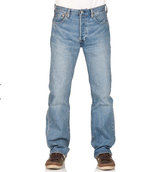 Levis 501 Herren Jeans Original Fit in Blau/Baywater für 48,96€ (statt 67€)