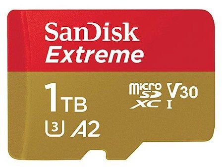 SanDisk Extreme A2 U3 V30 microSDXC Speicherkarte mit 1TB für 263,94€ (statt 352€)