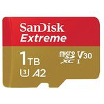 SanDisk Extreme A2 U3 V30 microSDXC Speicherkarte mit 1TB (!) für ca. 333€ (statt 384€)