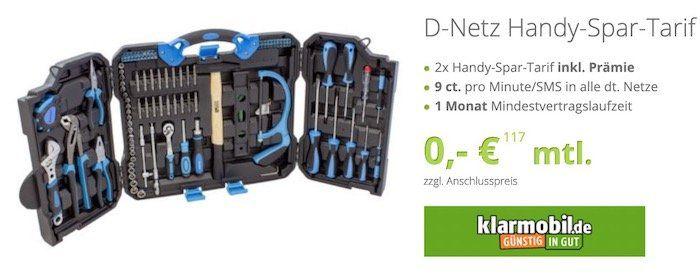 2x Telekom Spar Tarif für 3,90€ + Karcher 110 teiliges Werkzeugset für 9,95€ (Wert 80€)