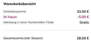 9 Slips ab 28€ bei Hunkemöller (282 Artikel)   keine Versandkosten bei Abholung