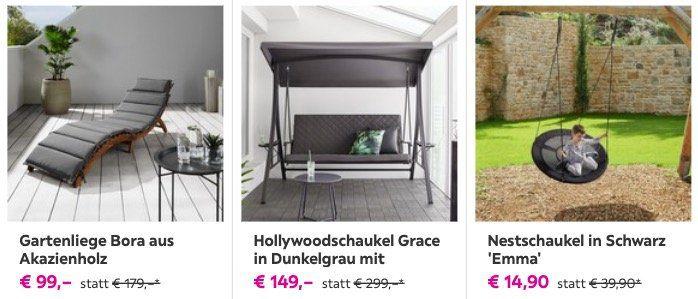 Mömax: 30% Rabatt auf ein Möbelstück eurer Wahl   z.B. Gartenliege Bora aus Akazienholz für 75€ (statt 105€)