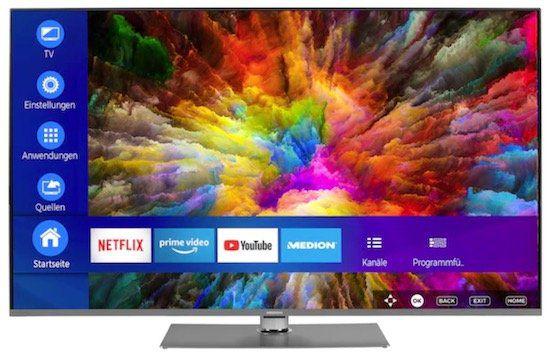 Medion S16599   65 Zoll UHD Fernseher mit Dolby Vision für 669,95€(statt 750€)