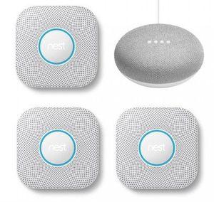 3er Pack Google Nest Protect Rauch  und Kohlenmonoxidmelder + Home Mini für 244,95€ (statt 330€)