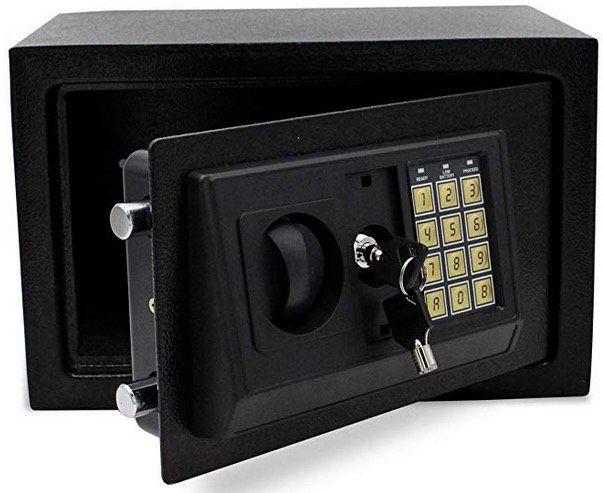 Wolketon Elektronischer Möbeltresor 31x20x20cm mit Doppelstahlbolzen inkl. Montagematerial für 25,89€ (statt 37€)