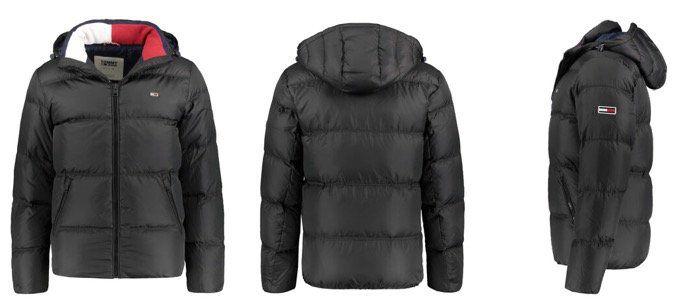 Tommy Jeans Herren Daunenjacke in Schwarz in M bis XL für 139,93€ (statt 164€)