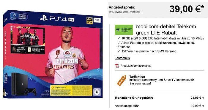 🔥 Telekom Flat mit 18GB LTE (50 Mbit) für 24,99€ mtl. + Switch (2019) für 4,99€oder PS4 Pro inkl. Fifa 20 für 39€
