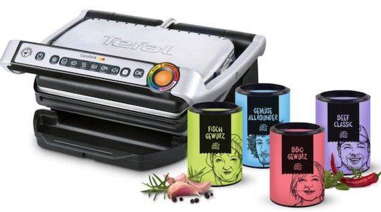 Tefal OptiGrill GC702D mit Gewürzen von Just Spices für 83,99€ (statt 119€)