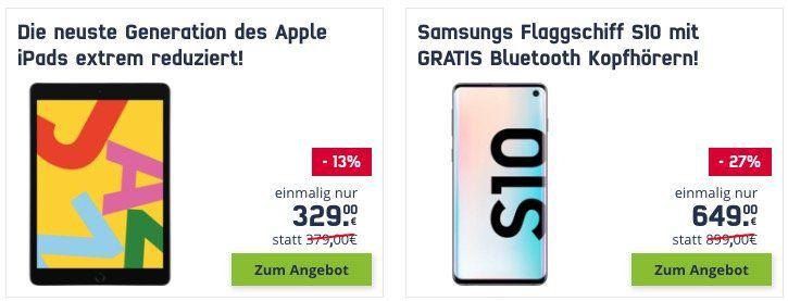 mobilcom Black Week   z.B. Samsung Galaxy A40 + Samsung Galaxy Fit für 199€ (statt 278€)