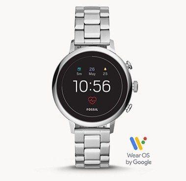 Fossil Q Venture HR Damen Edelstahl Smartwatch für 126,65€ (statt 212€)