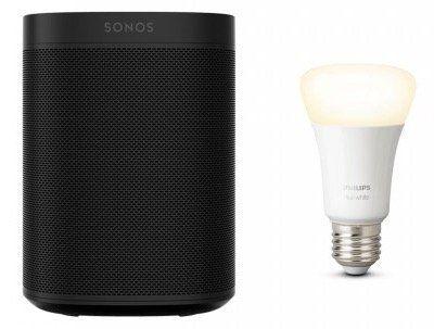 Sonos One + Philips Hue White E27 Bluetooth für 153€ (statt 189€)