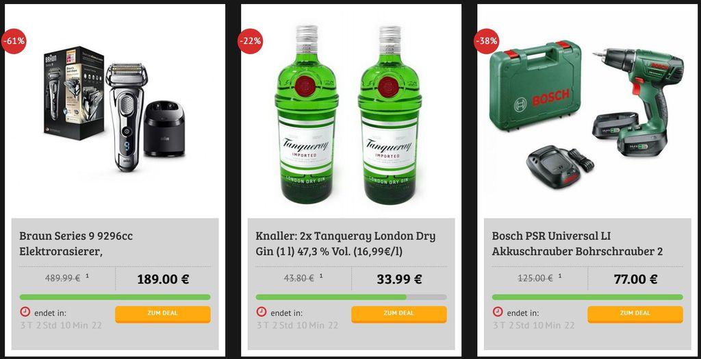 Black Deals DealClub: z.B.Braun Series 9 Rasierer für 189€ (statt 220€), 2x Gin für 33,99€ (statt 40€) uvm.