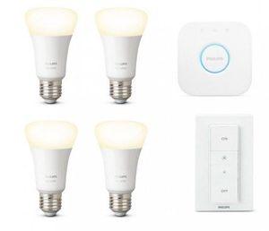 Philips Hue White E27 Bluetooth Starter Kit mit 4 Leuchtmitteln für 64,95€(statt 105€)