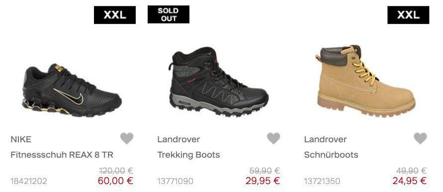 Deichmann Cyber Monday mit  50% Rabatt + keine VSK   z.B. Landrover Boots nur 24,95€