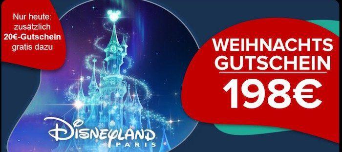 🔥Lastminute Geschenk: Gutschein für Disneyland Paris inkl. 4* Hotel mit Frühstück für 99€ p.P. + heute: 20€ Gutschein