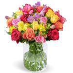 """Blumenarrangement """"Farbspiel"""" mit 30 Rosen & Inkalilien für 22,98€"""