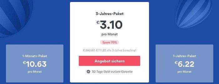 NordVPN 3 Jahres Account für einmalig 111,82€ (3,10€ pro Monat)   dazu bis 1 Jahr geschenkt