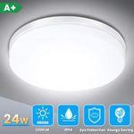 Solmore LED-Deckenleuchte 24W 5000K 2200LM IP54 für z.B. Badezimmer für 13,99€ (statt 20€) – Prime