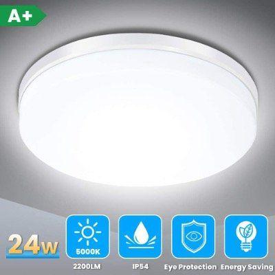 Solmore LED Deckenleuchte 24W 5000K 2200LM IP54 für z.B. Badezimmer für 13,99€ (statt 20€)   Prime