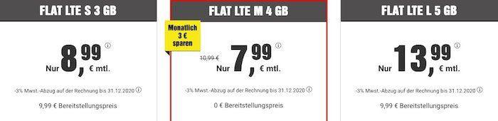 🔥 Allnet Flat mit 4GB LTE monatlich kündbar für 7,99€ mtl.   dazu BILDplus (Wert 7,99€ mtl.) gratis dazu!