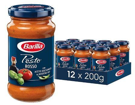 12er Pack Barilla Pesto Rosso ab 18,89€ (1,57€ pro Glas)   Prime Sparabo
