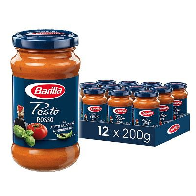 12er Pack Barilla Pesto Rosso ab 19,10€ (1,59€ pro Glas) – Prime Sparabo