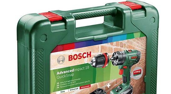 Bosch Akku Schlagbohrschrauber AdvancedImpact 18 QuickSnap mit 2 Akkus für 149,99€ (statt 190€)
