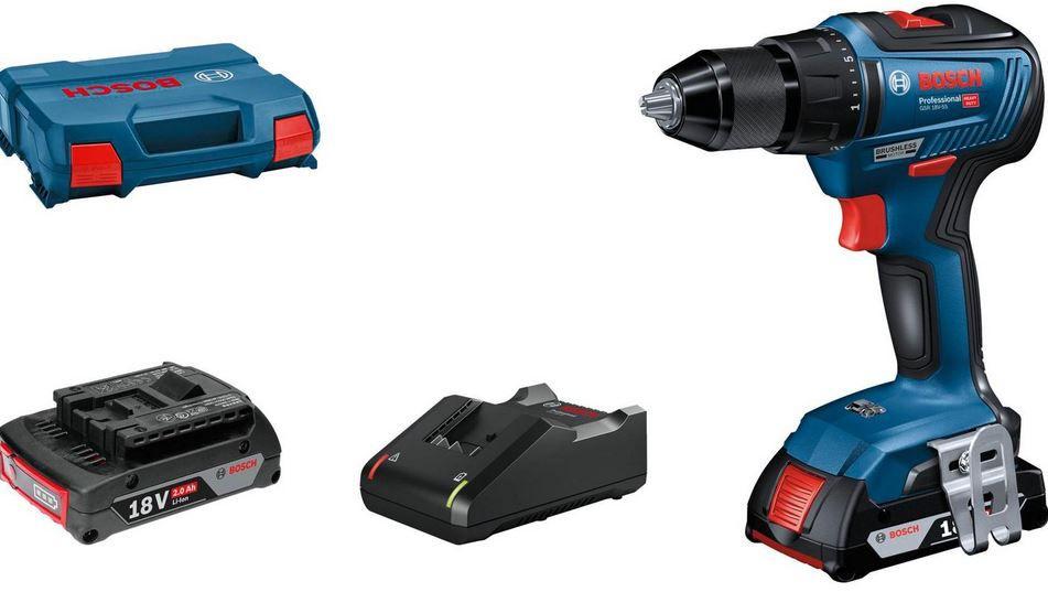 Bosch GSR 18 V 55 Professional Akku Bohrschrauber 2 Akkus 2Ah + Koffer für 161,96€ (statt 176€)