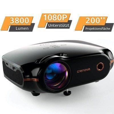Crenova XPE500 Mini Beamer bis 200 mit 3800L inkl. HDMI Kabel für 89,99€ (statt 120€)