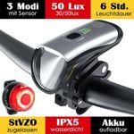 Fahrradlicht Set aus Frontlicht & Rücklicht mit OSRAM LEDs (50 Lux) und Li-ion Akku für 20,99€ (statt 30€)