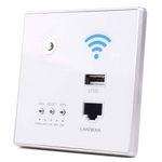 Fesjoy WLAN-Repeater-Extender mit 300 Mbit/s zum Wandeinbau mit LAN- und USB-Buchse für 13,84€ (statt 28€)