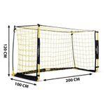 PodiuMax zusammenfaltbare Mini-Fußballtor 2×1 Meter mit Tragtasche für 39,99€ (statt 80€)